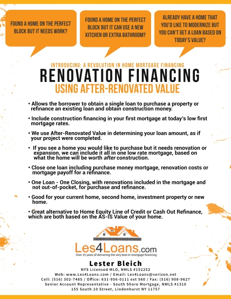 Renovation Financing White